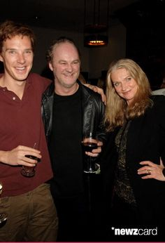 (EMBARGOED FOR PUBLICATION IN UK TABLOID NEWSPAPERS UNTIL 48 HOURS AFTER CREATE DATE AND TIME)  (L-R) Benedict Cumberbatch and Tim McInnerny with guest attend the after show following the press night of 'Little Shop Of Horrors', at the National Gallery Cafe on March 12, 2007 in London, England.  (Photo by Dave M. Benett/Getty Images)