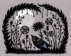 'Under a Crescent Moon' by Rural Pearl/Angie Pickman. (visit her etsy site and you can purchase some of her wonderful art)
