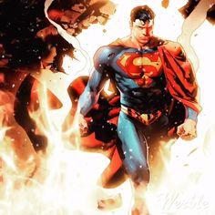 by Jorge Jimenez Supergirl Superman, Superman Family, Superman Man Of Steel, Batman Vs Superman, Comic Book Artists, Comic Artist, Comic Books Art, Marvel Dc, Marvel Comics