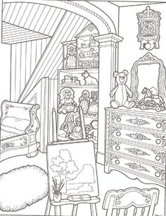 victorian house coloring pages | ... to download an 8.5 x 11 printable [PDF] version of this coloring page