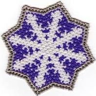 Bead Netted Snowflake Doily or Coaster Pattern at Bead-Patterns.com