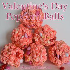 She's Creative! Valentine's Day Popcorn Balls