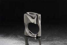 ITEM | Guribori, wedding ring, designer jewelry by original technique of Mokume-Gane