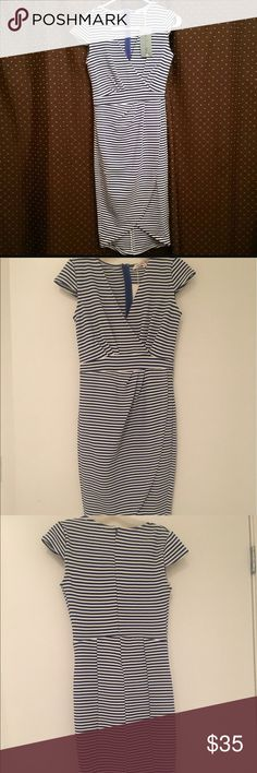 NWT Blue Stripe Dress So cute and flattering. BNWT. Never worn. be.YOU.tiful Dresses