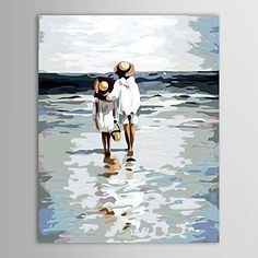 luckydonkey   Rakuten Global Market: Contemporary art in modern canvas art painting wall hanging painting big abstract video piece 1 set Kids Beach brothers bond water loving seaside sweets at around 2-3 weeks shipping will point