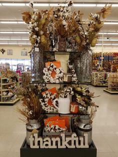 Fall 2017 Hobby Lobby cotton display Fall Decorations, Seasonal Decor, Holiday Decorating, Decorating Ideas, Farmhouse Style, Farmhouse Decor, Fall Harvest, Autumn, Hobby Lobby Decor