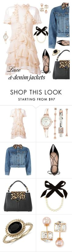 """""""Lace & Denim Jackets"""" by beleev ❤ liked on Polyvore featuring Alexander McQueen, Anne Klein, Marc by Marc Jacobs, Kate Spade, Dune, Lulu Frost, Blue Nile, Vita Fede, men's fashion and menswear"""
