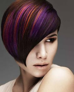Short Hair Styles like the colors