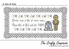 Cross Stitch. Shakespeare meets Star Wars!
