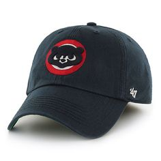 Men's Chicago Cubs '47 Navy Circle Logo Franchise Cooperstown Fitted Hat | MLB.com Shop