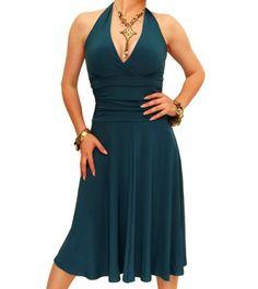 Blue Banana - Teal Halter Neck Dress - US Size 4 Blue Banana http://www.amazon.com/dp/B00561K6VG/ref=cm_sw_r_pi_dp_eBpkub1MC6G6H