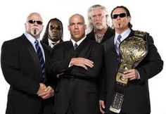 The Main Event Mafia in TNA Wrestling , one of the best Stables - Scott Steiner, Booker T, Kurt Angle , Kevin Nash and Sting!