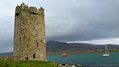 Castle of the Pirate Queen on Achill Island. Legendary in Ireland, Grainne O'Malley became chieftain of the O Maille clan in the mid-16th century. Many castles around Clew Bay in County Mayo, as well as Westport House, claim connection to this powerful woman.