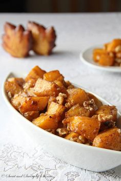Caramelized Butternut Squash - Brown sugar and cinnamon combine to make this Caramelized Butternut Squash a real treat! PLUS 23 more Scrumptious Butternut Squash Recipes!
