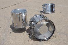1970's Ludwig Stainless Steel Stainless Steel Drum, Ludwig Drums, Vintage Drums, Metal Drum, Drum Sets, Snare Drum, Percussion, Black Beauty, Guitars