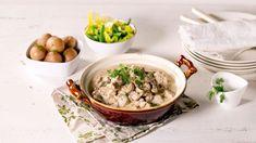 Lam i rømme og dill - Oppskrift fra TINE Kjøkken Happy Foods, Frisk, Ramen, Soup, Ethnic Recipes, Soups
