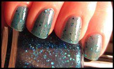 Blue Lagoon Glitter Nail Polish - Full Size. $8.00, via Etsy.