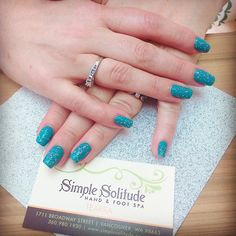 Always a fan of glitter over a simple color. Loving these nails by Tearra at @SimpleSolitude in Vancouver, WA. Follow us on Instagram for more awesome pictures like this!