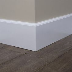 MDF Kraal plint 120x15mm, 2.40 m1. Wit Afgewerkt kopen   Kwaliteitparket.nl Baseboard Styles, Baseboard Trim, Baseboards, Baseboard Ideas, Happy New Home, Floor Trim, Small Room Bedroom, Interior Trim, Home Renovation