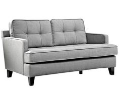 Eden Cement Gray Fabric Loveseat | 55DowningStreet.com