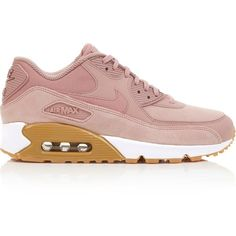 Nike Air Max 90 Se Trainers (1.962.600 IDR) ❤ liked on Polyvore featuring shoes, sneakers, light pink, laced shoes, lace up shoes, nike sneakers, nike shoes and lacing sneakers