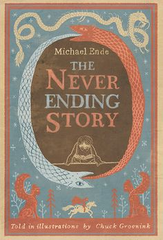 """The Never Ending Story"", Michael Ende - After years of requesting it for Christmas, my mum finally tracked down for me the version of this book that I so coveted. It is printed in red and green ink to differentiate between the action that takes place in the story, and the story within the story. Quite a thing of beauty! PP."