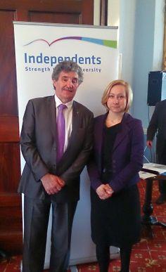 Independents' Network - John Halligan TD and Agnieszka Wieczorkowska