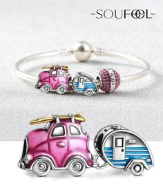 Travel Car and Trailer are house and car, it is a lifestyle, Birthday Party Bracelet 925 Sterling Silver, SOUFEEL, For Every Memorable Day