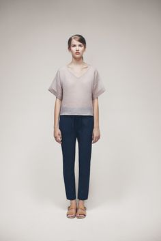 Inas Top and Penguin Trousers   Samuji SS15 Classic Collection