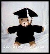 Teddy Bear Graduation Outfit ( Motarboard cap and Graduation Gown)  Teddy Bear Pattern here: http://www.allfreecrafts.com/crochet/teddy-bear.shtml