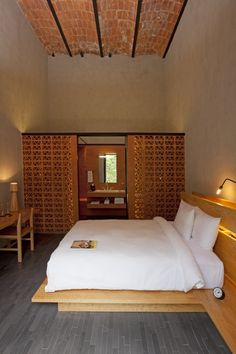 Downtown Mexico Simple Room with exposed original brick vaulted ceilings