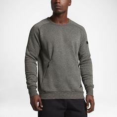 Jordan Icon Fleece Men's Sweatshirt, by Nike Size Large (Olive) - Clearance Sale