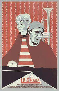 Alternative movie poster for La Strada by Fernando Reza