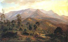 Vue de la neige Bluff Sur Le de Eugene Von Guerard (1811-1901, Austria)