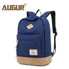 AUGUR Men Women Backpack School for Teenager College Waterproof Oxford Travel Laptop Bag