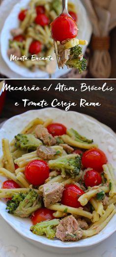 Macarrão risotado ao alho e óleo com brócolis, tomate cereja rama e atum, que a gente faz em uma panela só, rapidinho, sem sujeira na cozinha e DELICIOSO!