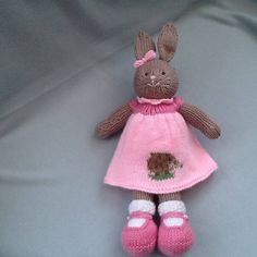 Hand knitted rabbit Baby bunny rabbit bunny baby shower