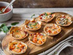 Klein, aber oho! Mini-Tortilla-Pizza aus der Muffinform