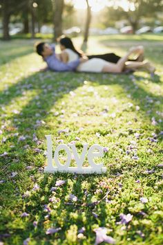 Engagement prop - love sign! | Hendrick and Susan's Spring Engagement Shoot in Perth