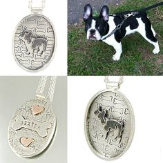 Custom Piece: Dexter The Frenchie  Sterling Silver Owner Friendly Pendant by Creative Dexterity