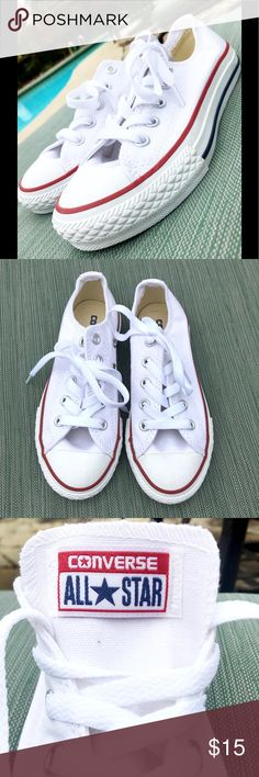 Converse Shoes White Converse. Never worn! Kids size 11.5. Converse Shoes Sneakers