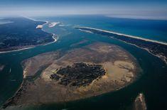 Vue aérienne et peu commune du bassin d'Arcachon - Photo de Cément Viala