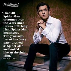 And now it's his job to wear the costume...And that's why they picked him. <<Best Spiderman ever... enough said!!