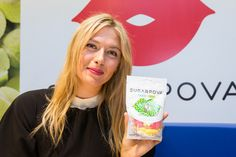 Tennis player Maria Sharapova poses during the French launch of her Sugarpova candy collection at Colette on May 22, 2013 in Paris, France