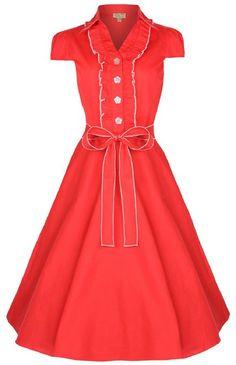 Lindy Bop 'Norma' 1950's Millésime Pinup Shirt Robe: Amazon.fr: Vêtements et accessoires