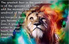 The roar of freedom