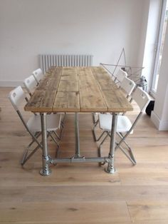 Handmade-Farmhouse-Industrial-Rustic-Scaffold-Plank-Board-Dining-Table-Desk-6x3