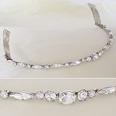 Exquisite wedding tiaras & crystal bridal headbands in a variety of bridal styles by Haute Bride.  Petite crystal tiaras & back pieces, modern, traditional & vintage wedding tiara styles.