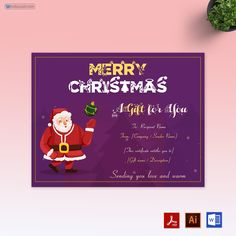 Printable 2021 Christmas Gift Manager 140 Merry Christmas Gift Certificate Templates Ideas In 2021 Christmas Gift Certificate Template Christmas Gift Certificate Merry Christmas Gifts