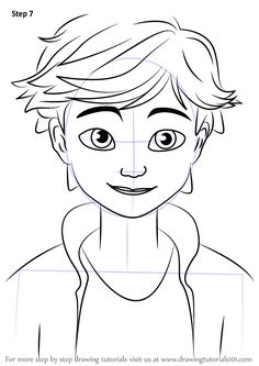 Learn How To Draw Adrien Agreste From Miraculous Ladybug (Miraculous Ladybug)  Step By Step